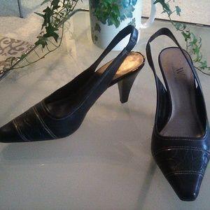Worthington leather heels, size 7